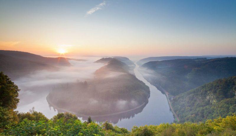 De Saarschleife is een van de meest fotogenieke plekken in het Saarland