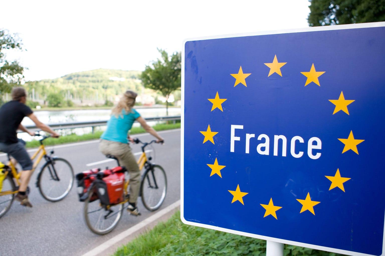 De grens naar Frankrijk is tijdens het fietsen in het Saarland nooit ver te zoeken