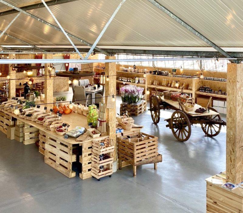 Boerderij met vooral duurzame producten tijdens de fietstoch Hoferfahrung in de Enzkreis