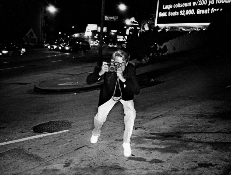 Helmut Newton op een foto uit het jaar 1996