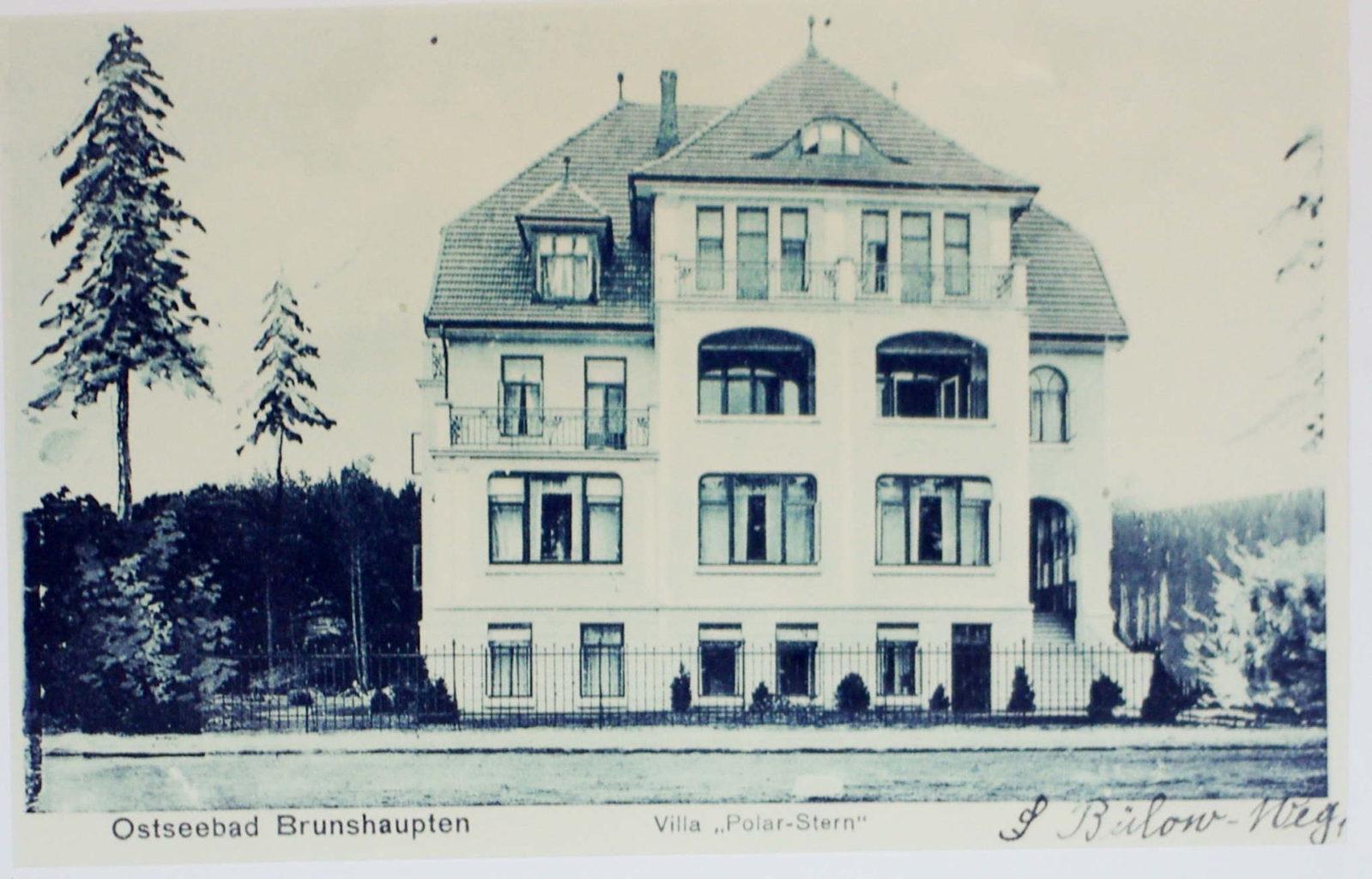 Historische opname van Hotel Polarstern in Kühlungsborn
