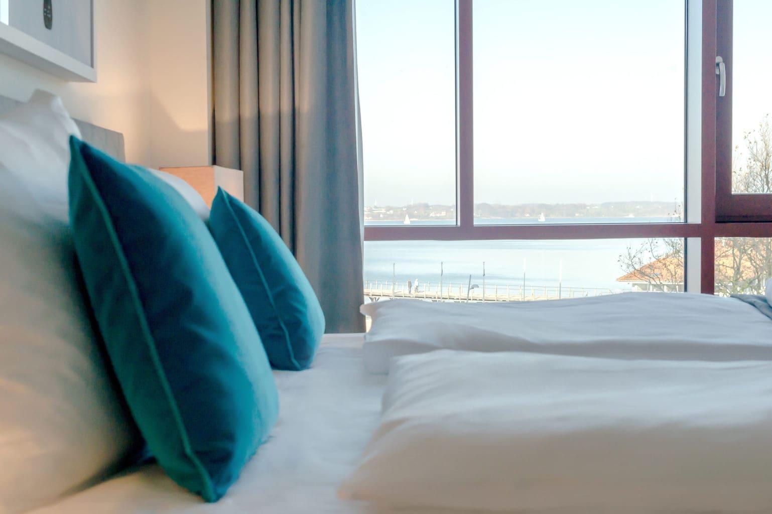 Kamer met uitzicht in Hotel Intermar in Glücksburg aan de Oostzee