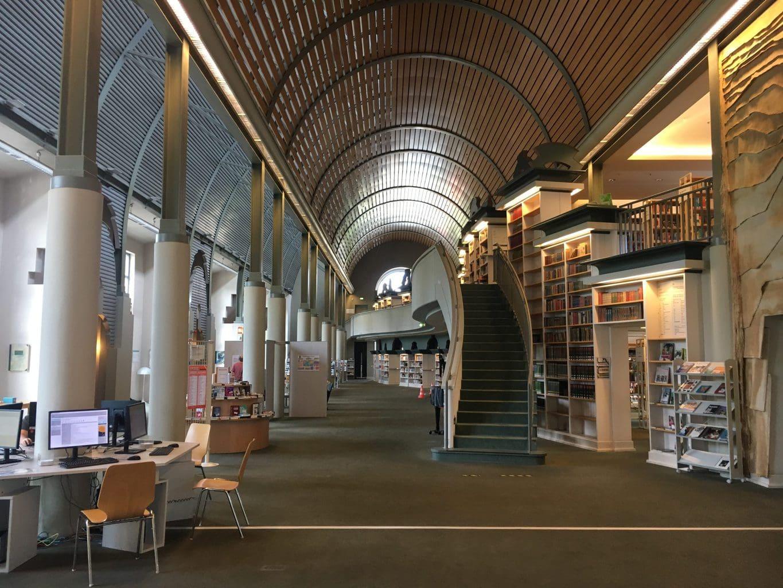 De Humboldt-Bibliotheek in Berlijn van binnen