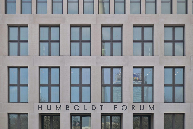 De nuchtere kant van het Humboldt Forum in Berlijn