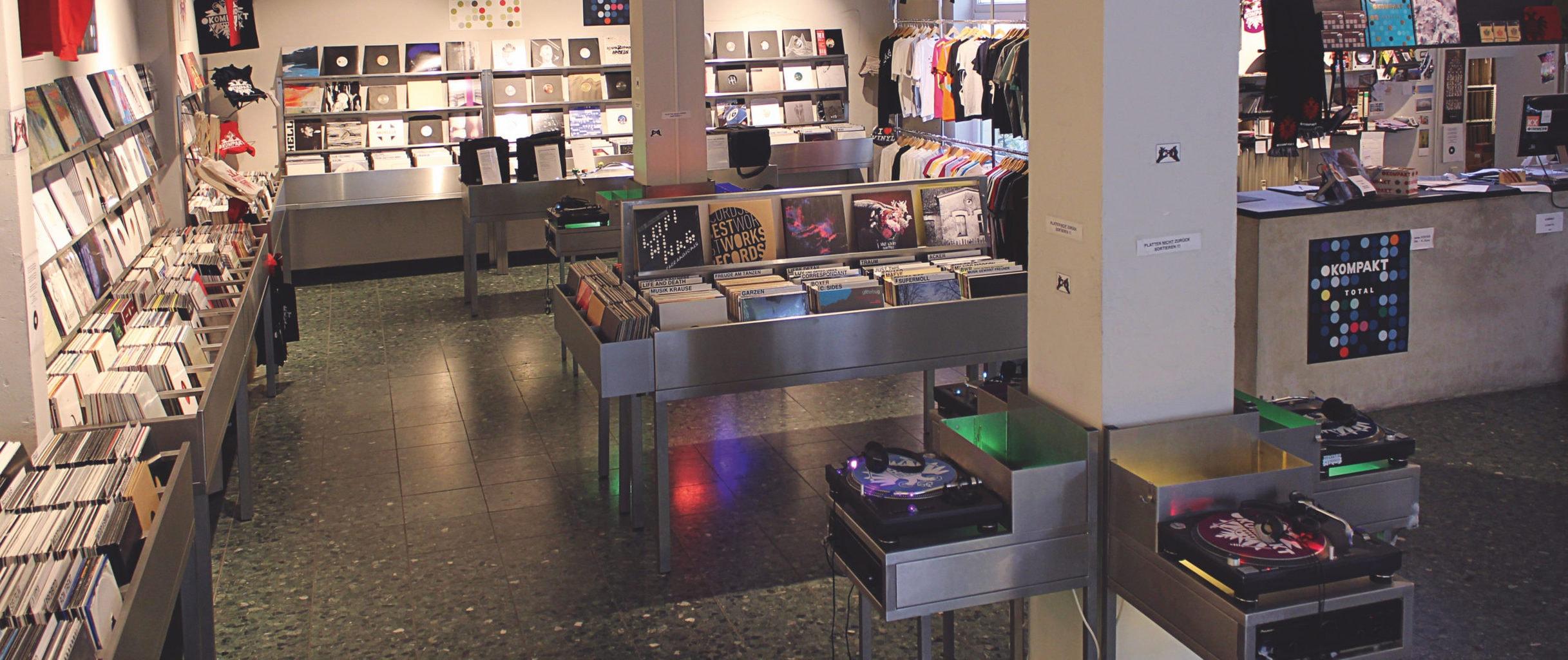 De winkel van Kompakt in de Werderstraße
