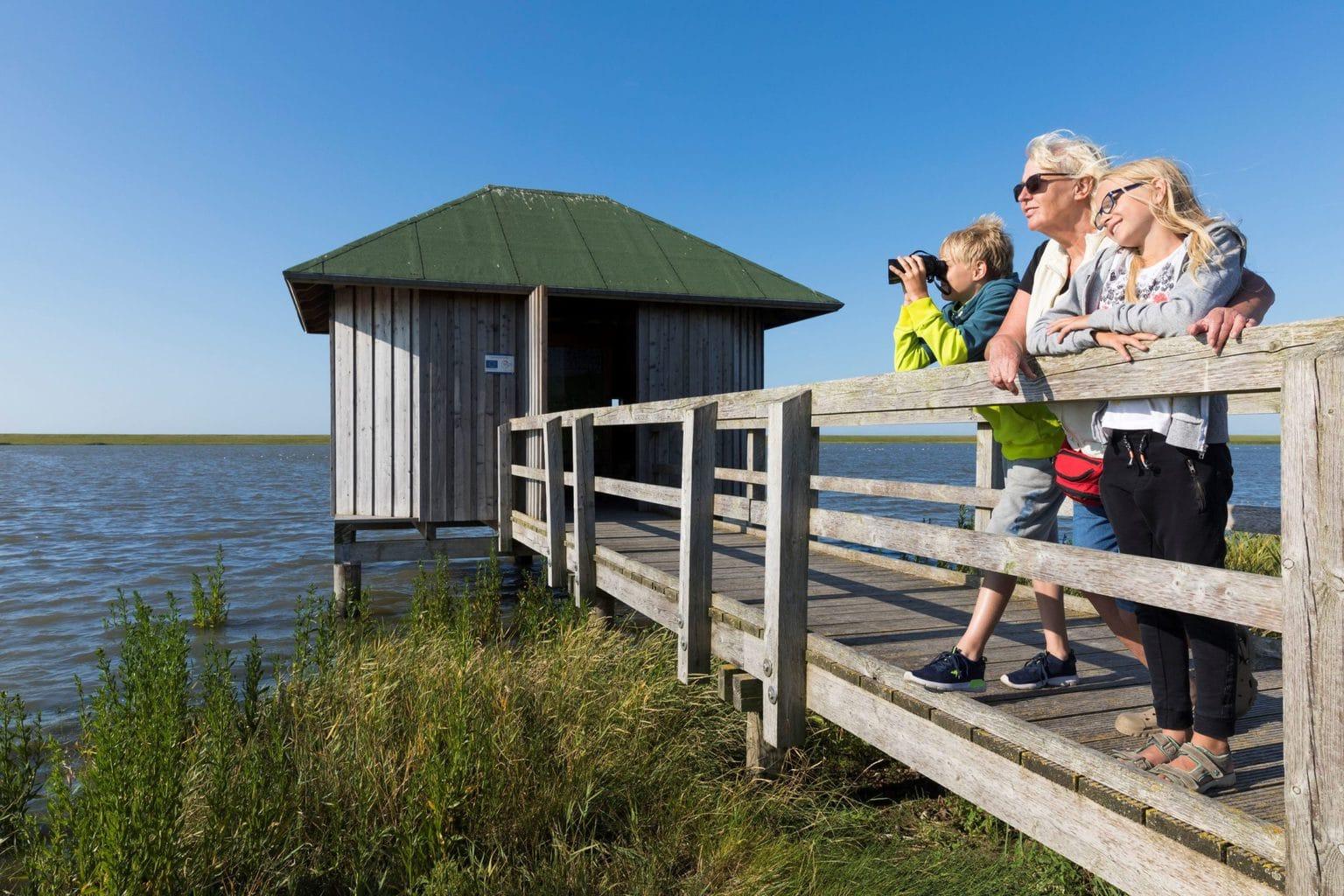 Vogelkijkhut bij Langwarder aan de Duitse Noordzeekust