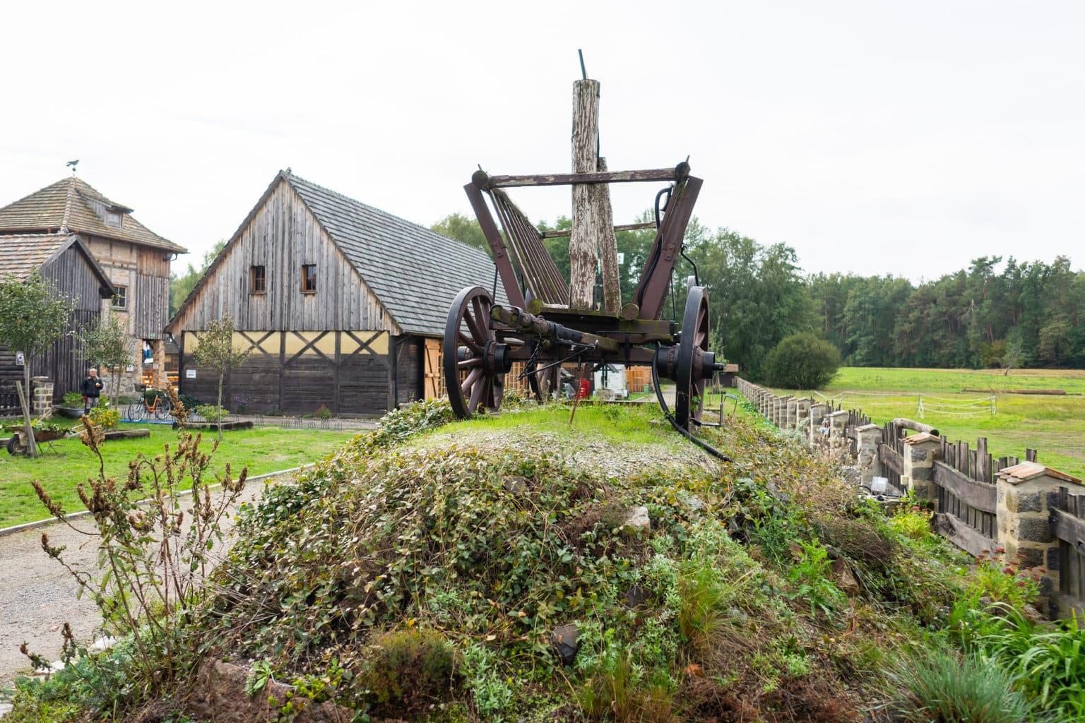De Krabat molen in het Lausitzer Merenland is een openluchtmuseum