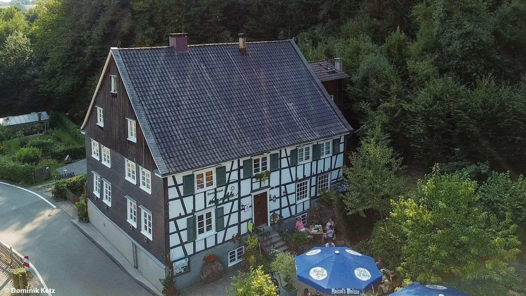 Restaurant Neumühle is een plek voor lekker smullen in het Bergische Land