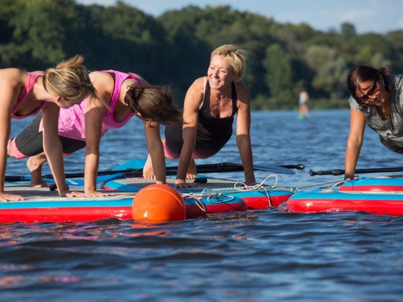 SUP-yoga met lerares Angelique