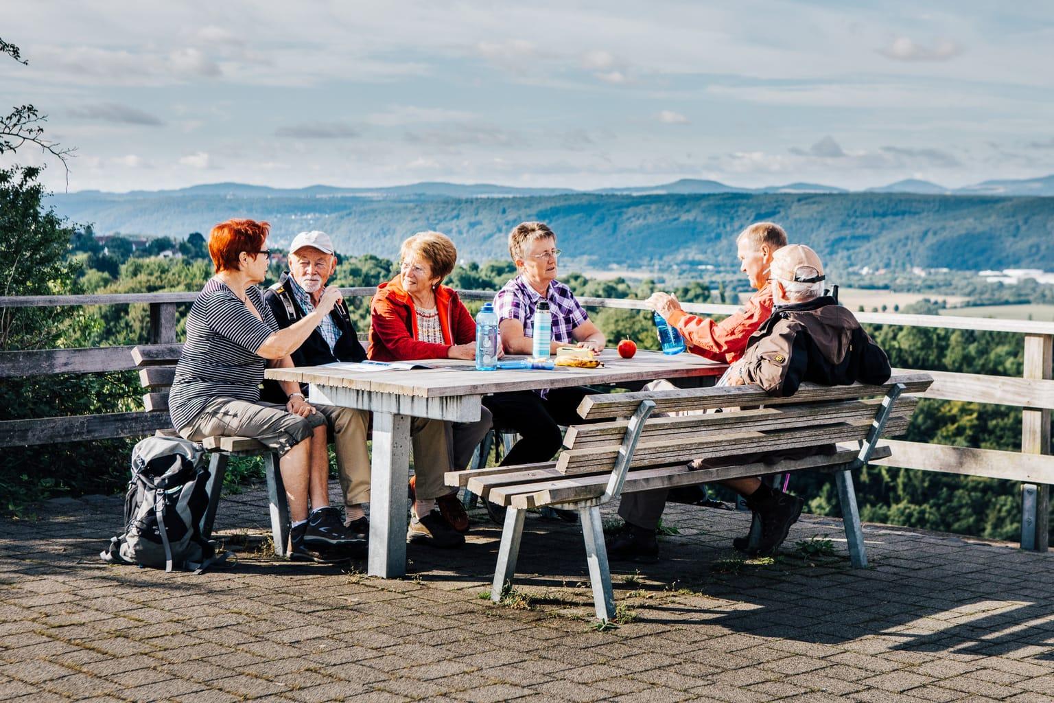 Schitterend uitzicht vanaf een heuvel bij Linz