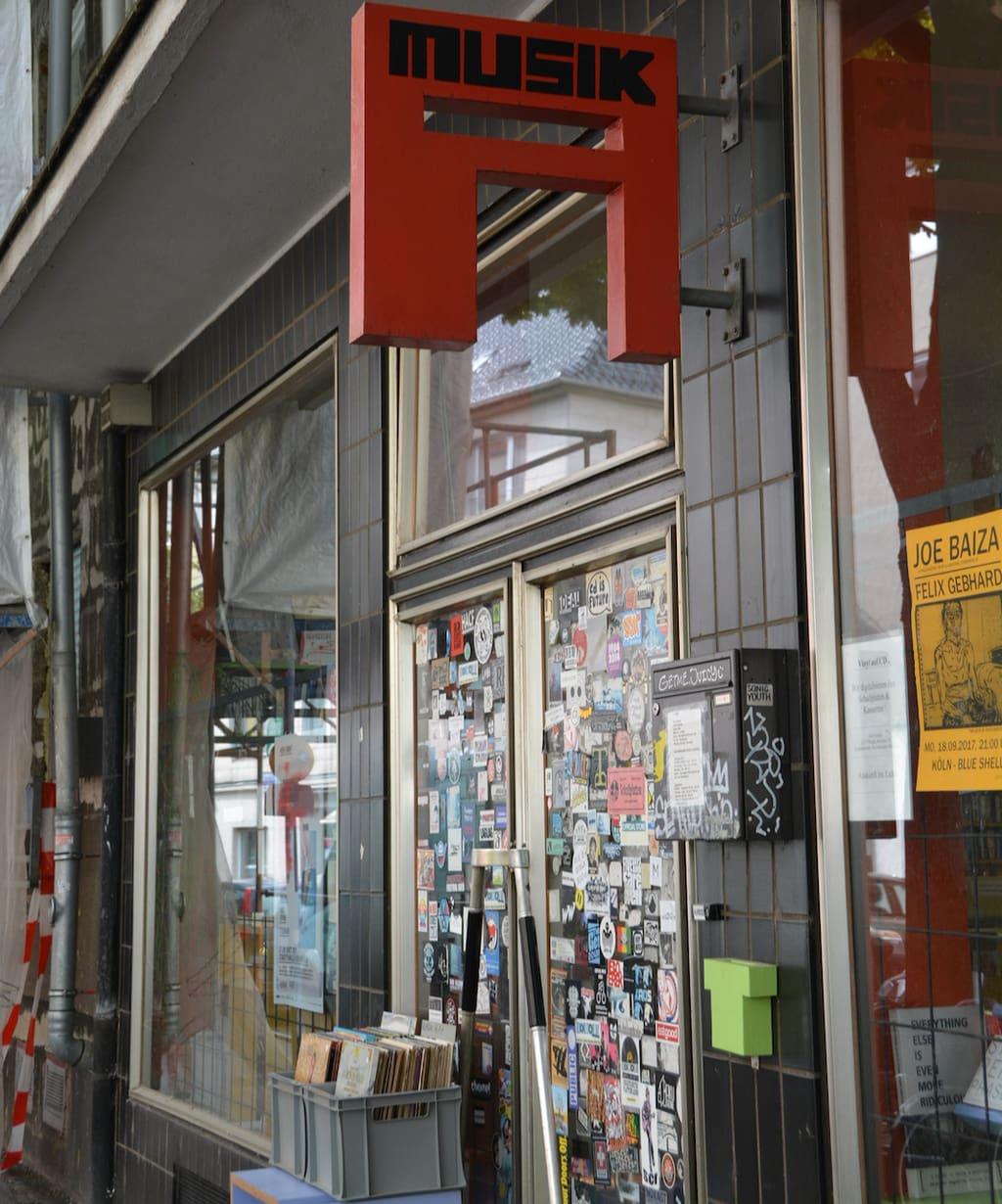 A-Musik platenwinkel in Keulen van buiten