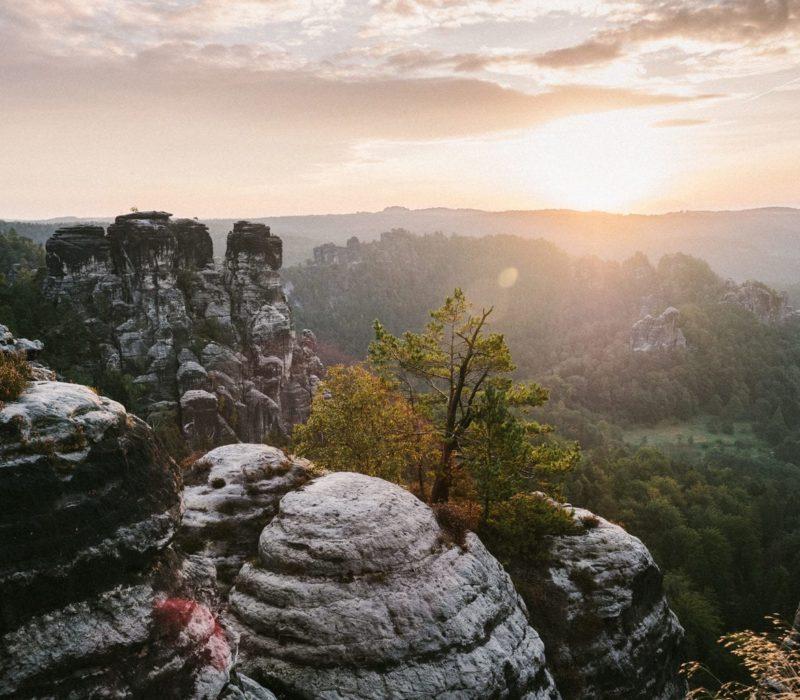 Het Elbsandsteingebergte in de Sächsische Schweiz