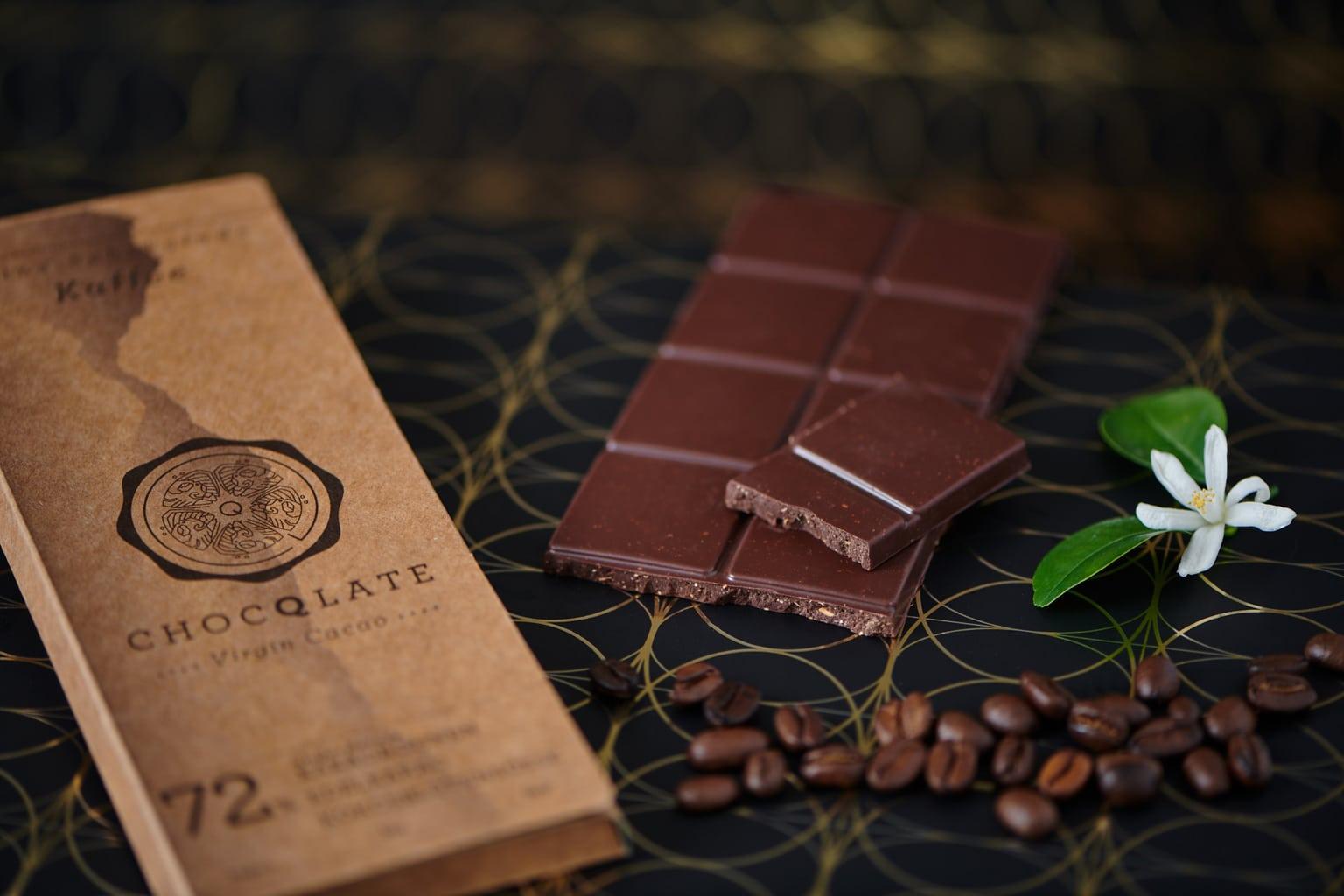 Chocola met 72 procent cacao van Choqlate in München