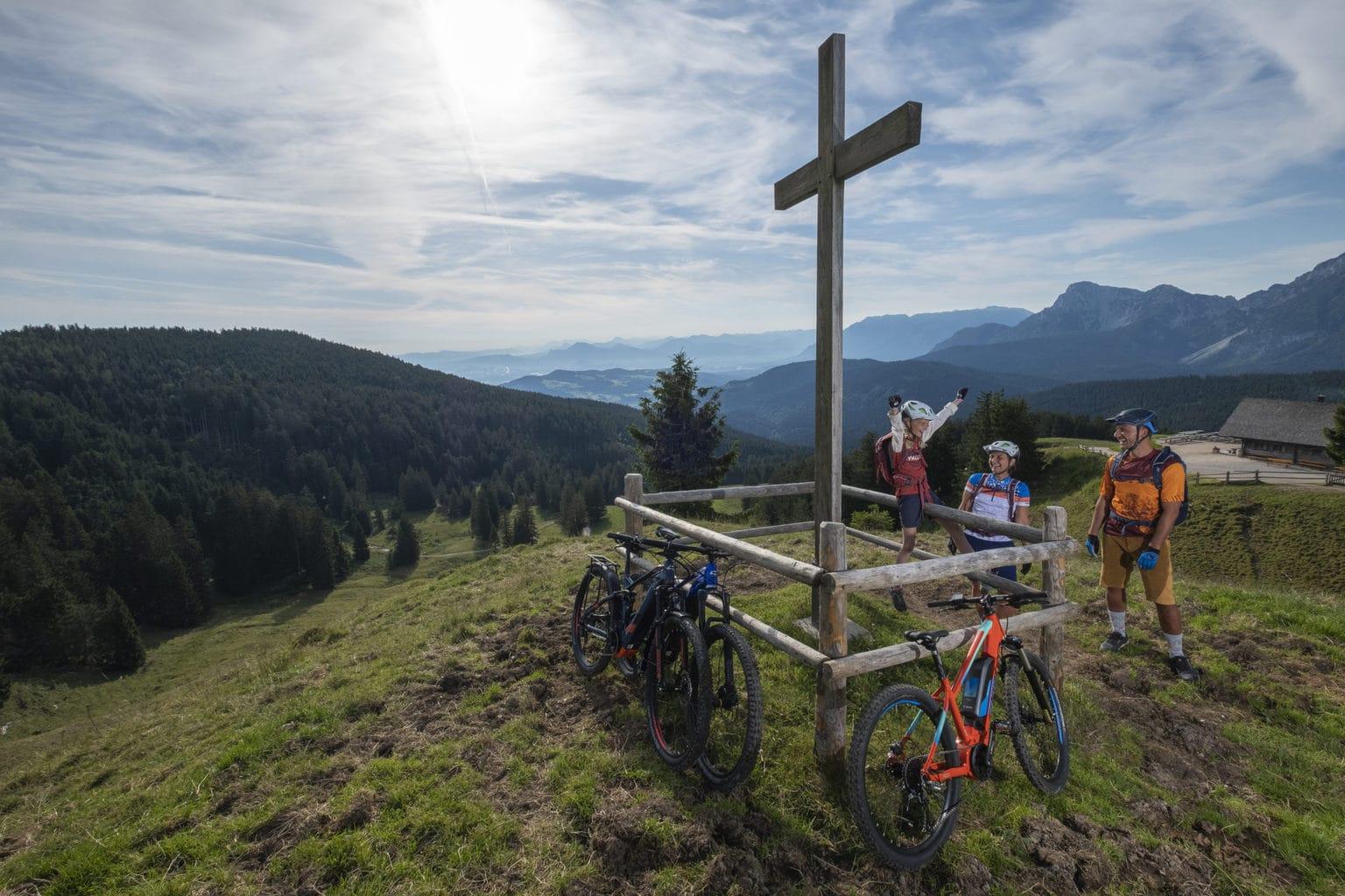 Doel bereikt na een mountainbiketocht in de Chiemgau