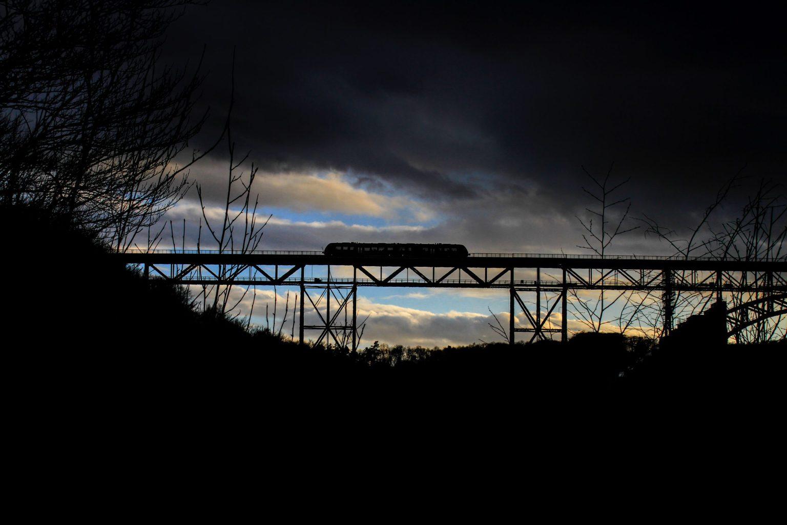 De Müngstener Brücke tussen Wuppertal en Remscheid is hoogste spoorbrug van Duitsland