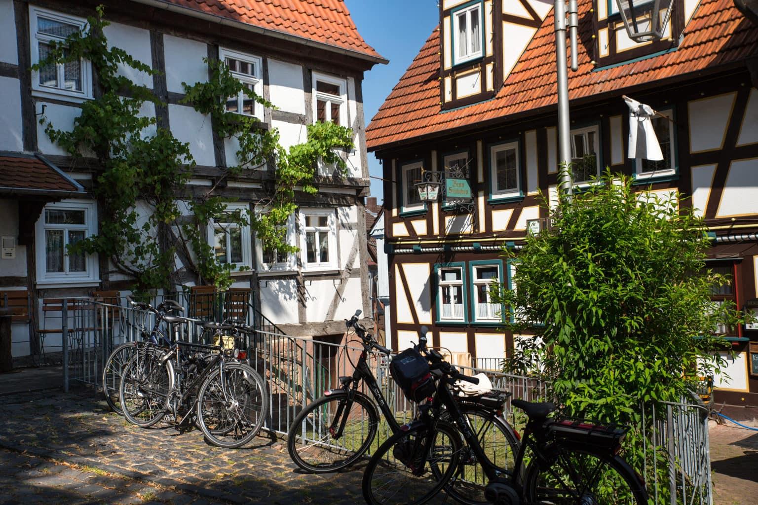 Fietsen en vakwerkhuizen in Hessen
