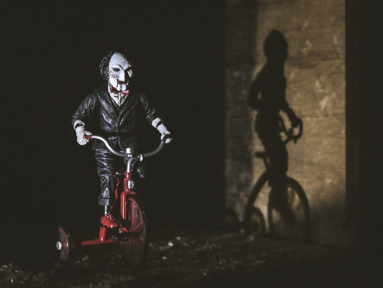 Man met masker Halloween