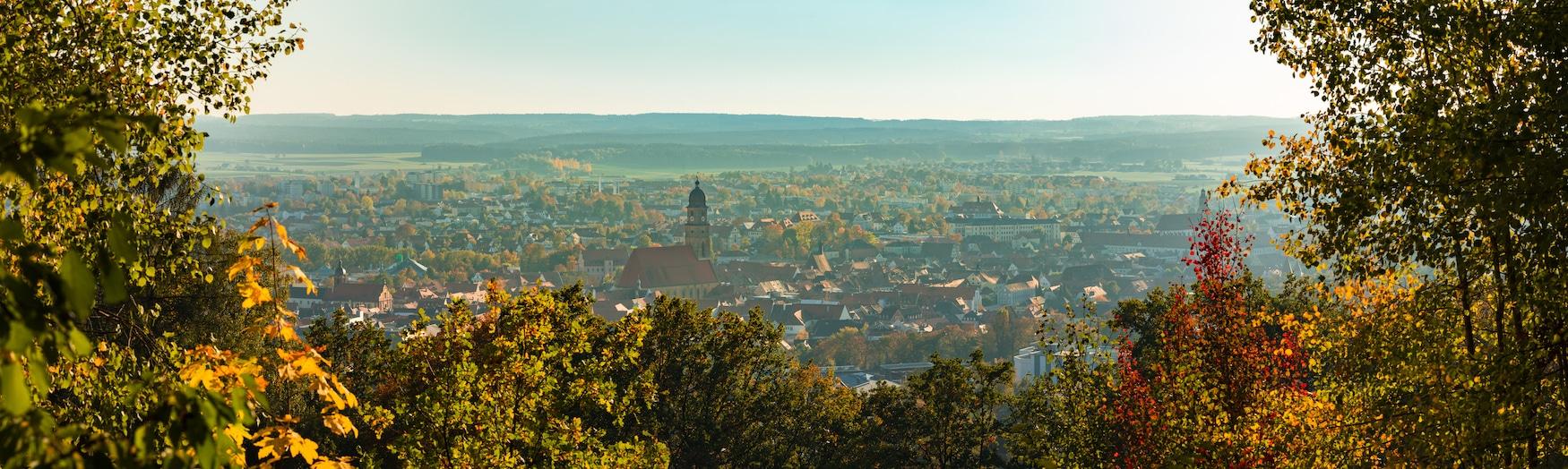 Panoramagezicht van Amberg in Oost-Beieren