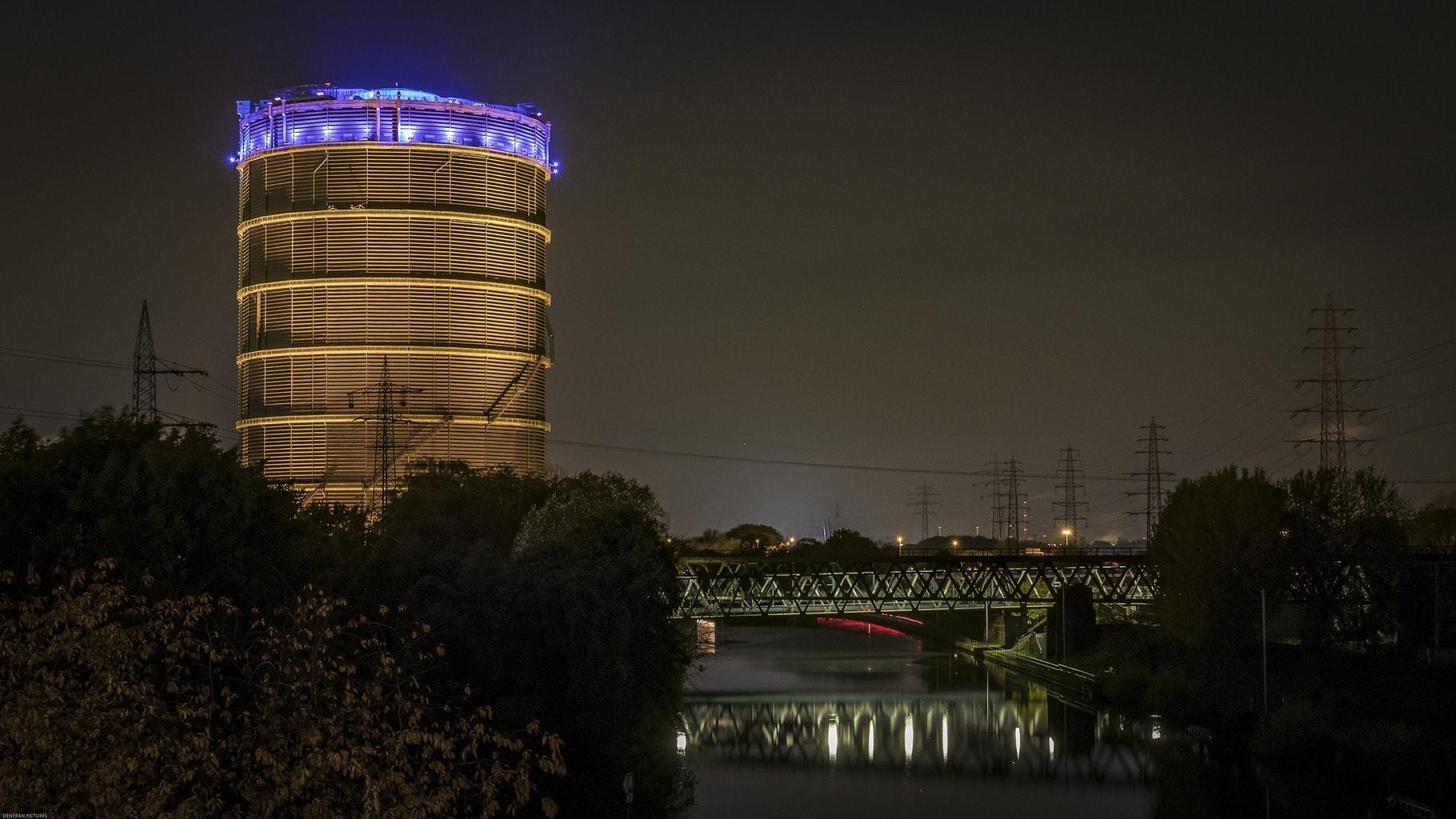 De gasometer in Oberhausen is de grootste van de wereld