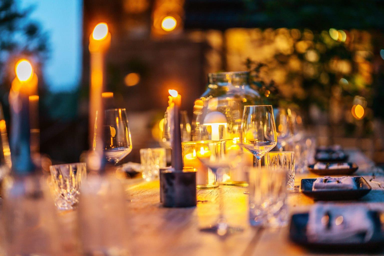 Gezellig gedekte tafel in Restaurant Leo's Braunlage