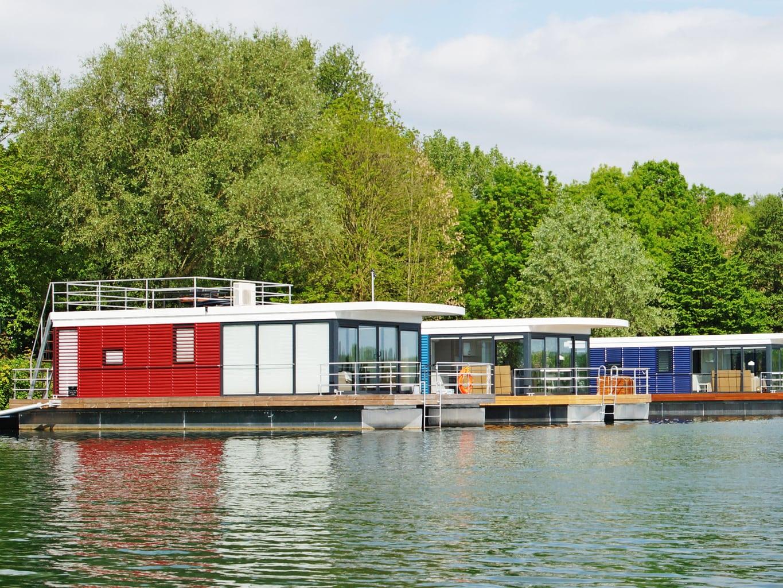 Slapen op het water in een floating house in het Duitse Xanten