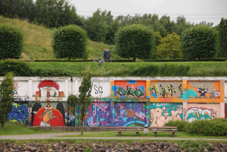 Street art op een muur in het Duitse roergebied