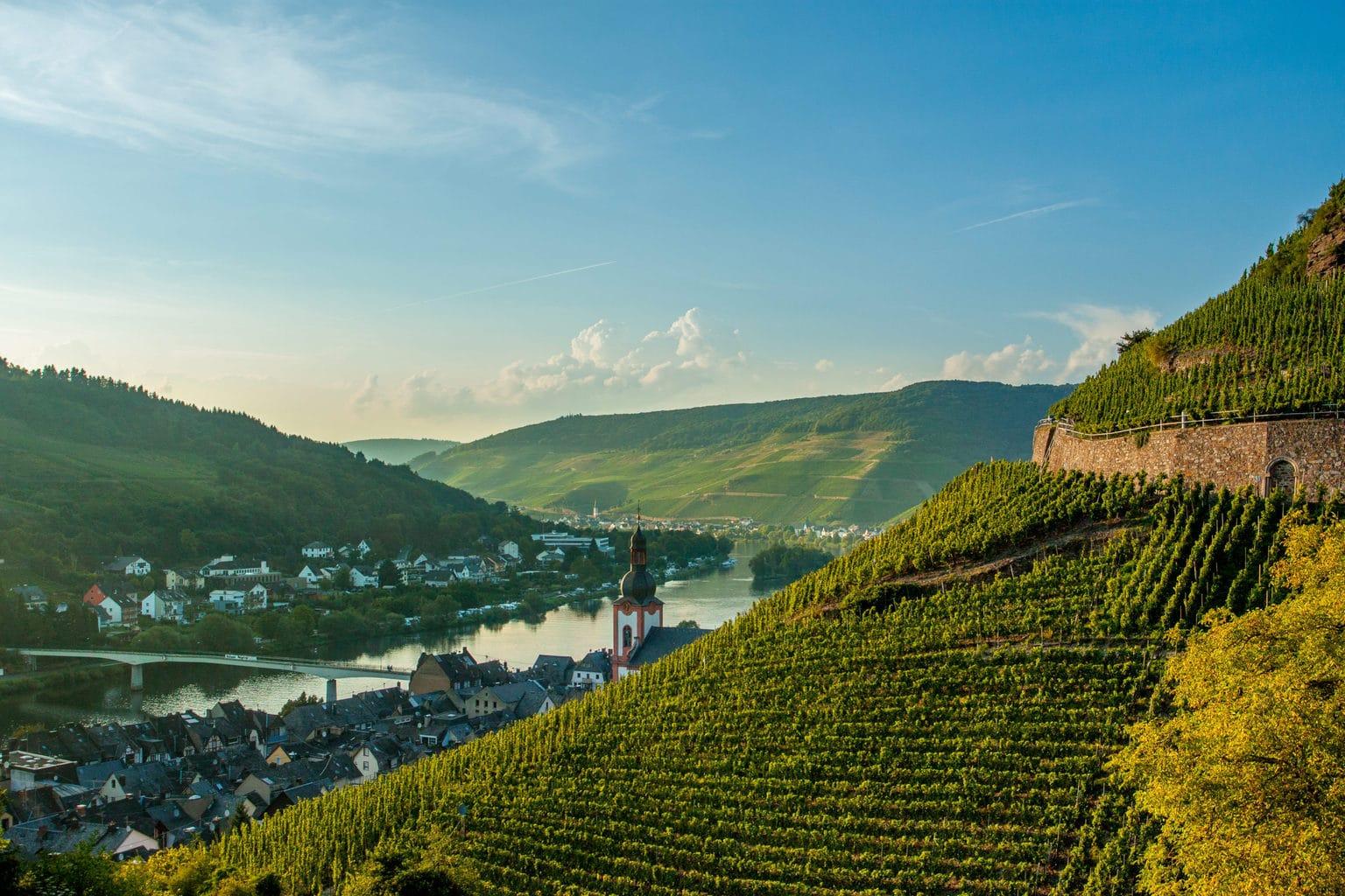 De wijnregio Zell Mosel is een van de attracties tijdens de Sterrenfietstochten in Duitsland
