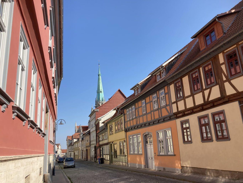 Vakwerkhuizen i Mühlhausen